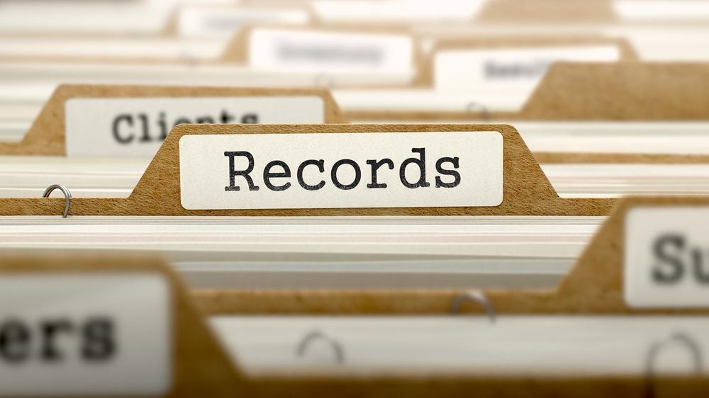 Records Concept. Word on Folder Register of Card Index. Selective Focus..jpeg