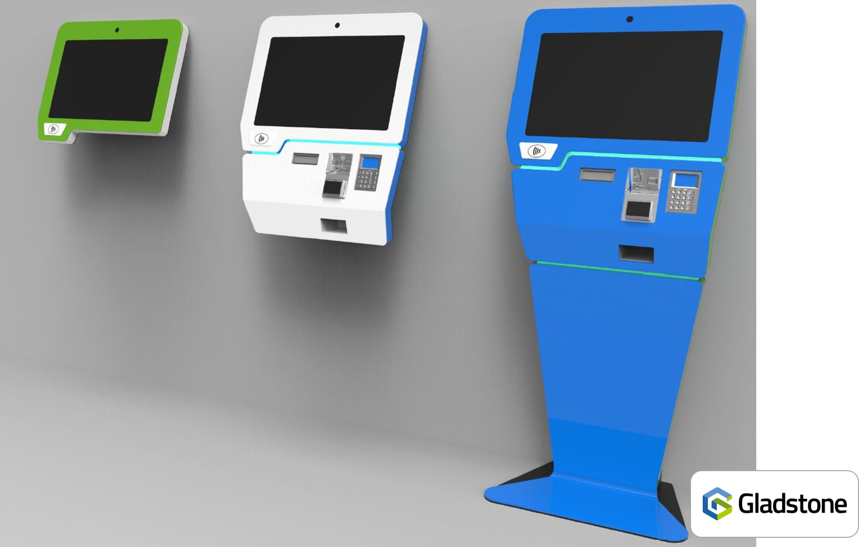 Kiosk v2 with G logo bottom right