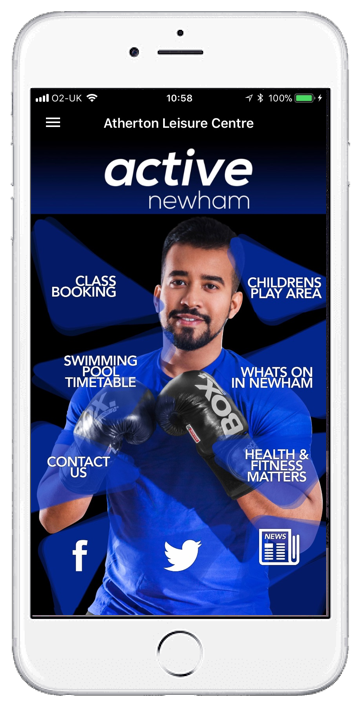 Picture of MobilePro customised home screen by Active Newham
