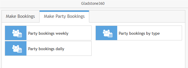Party Bookings in 360