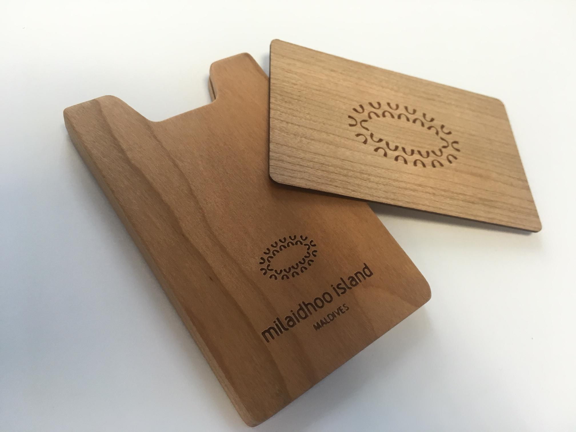 Cherry wood RFID Card image
